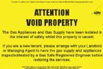 Pack of Void Property Labels